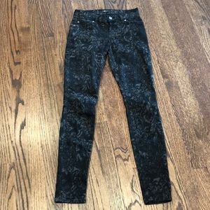 Seven for all mankind black & Gray skinny Sz 24